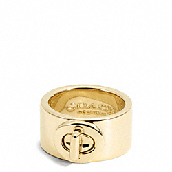 TURNLOCK RING - GOLD - COACH F99627