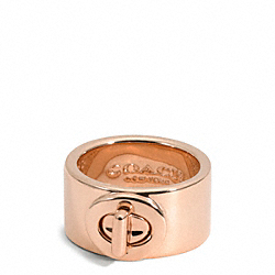 COACH TURNLOCK RING - ROSEGOLD - F99627