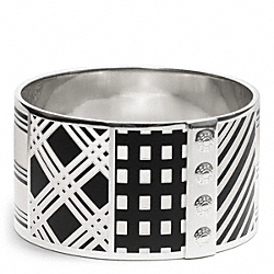 MIXED PRINT BANGLE - f99655 - SILVER/WHITE