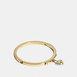 COACH HEART LOCKET BANGLE - GOLD - F99692