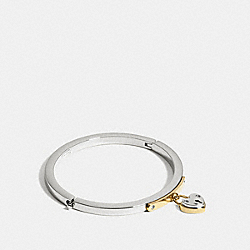 HEART LOCKET BANGLE - f99692 - SILVER