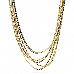 MIXED CUPCHAIN NECKLACE - GOLD/BLACK - COACH F99721