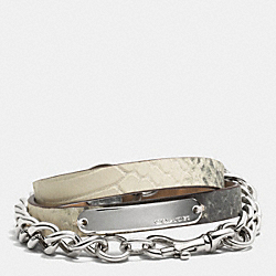 COACH MULTI WRAP CHAIN EXOTIC BRACELET - MULTICOLOR - F99738