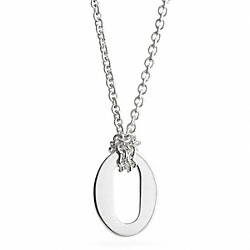 STERLING OVAL PENDANT NECKLACE - SILVER/SILVER - COACH F99776