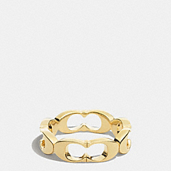 SIGNATURE C LINK RING - GOLD - COACH F99861