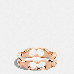 SIGNATURE C LINK RING - ROSEGOLD - COACH F99861