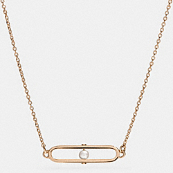 COACH PEARL ID SHORT NECKLACE - GOLD/WHITE - F99881