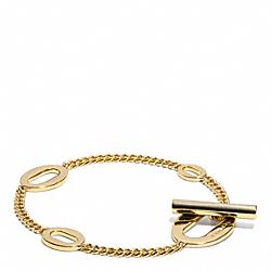 COACH F99882 - OVAL LINK BRACELET  GOLD