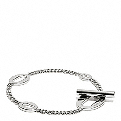 COACH OVAL LINK BRACELET - SILVER - F99882