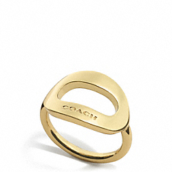 OPEN OVAL RING - f99883 - GOLD