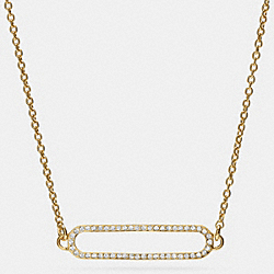 COACH PAVE ID SHORT NECKLACE - GOLD/CLEAR - F99885