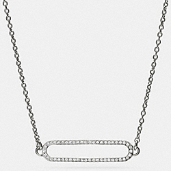 COACH PAVE ID SHORT NECKLACE - SILVER/CLEAR - F99885