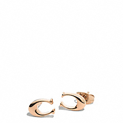 SIGNATURE C STUD EARRINGS - ROSEGOLD - COACH F99887