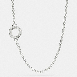COACH BOXED OPEN RING CHAIN NECKLACE - SILVER/SILVER - F99931