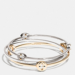 COACH OVAL BANGLE SET - MULTICOLOR - COACH F99942
