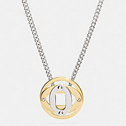 COACH LAYERED OVAL SHORT PENDANT NECKLACE - MULTICOLOR - F99951