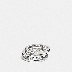 COACH COACH PEARL RING SET - SILVER/GREY - F99956