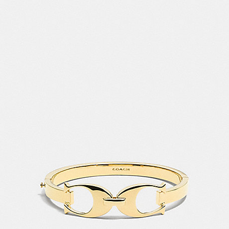 COACH SIGNATURE C LINK BANGLE - GOLD - f99965