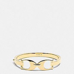 SIGNATURE C LINK BANGLE - GOLD - COACH F99965