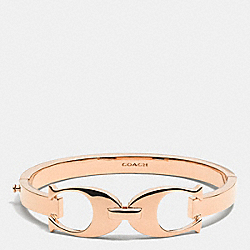 SIGNATURE C LINK BANGLE - ROSEGOLD - COACH F99965