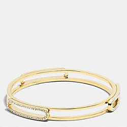 PAVE ID BANGLE - f99968 -  GOLD/CLEAR