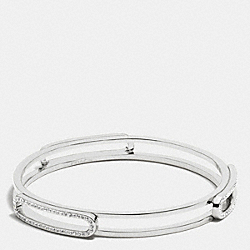 COACH PAVE ID BANGLE - SILVER/CLEAR - F99968