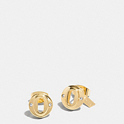 COACH LAYERED MULTI OVAL STUD EARRINGS - GOLD - F99971