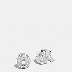 COACH LAYERED MULTI OVAL STUD EARRINGS - SILVER - F99971
