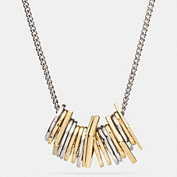 COACH LAYERED MULTI PIECES LONG NECKLACE - MULTICOLOR - F99979