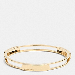 METAL ID TAG BANGLE - GOLD - COACH F99982