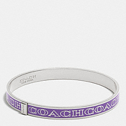 THIN COACH LETTER LOGO BANGLE - PURPLE IRIS - COACH F99983
