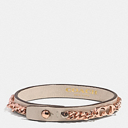SIGNATURE C CHAIN LEATHER BRACELET - RSD1D - COACH F99992