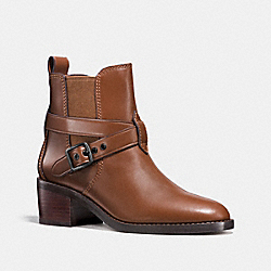 CHELSEA BOOT - DARK SADDLE - COACH FG1002