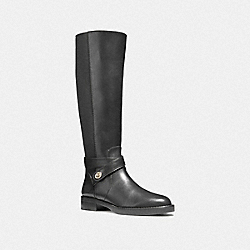 COACH TURNLOCK RIDING BOOT - BLACK - FG1010