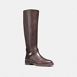 COACH TURNLOCK RIDING BOOT - MAHOGANY - FG1010