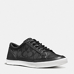 COACH PORTER LO TOP SNEAKER - BLACK - FG1078