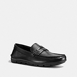 COACH MOTT PENNY LOAFER - BLACK - FG1089