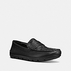 COACH MOTT PENNY LOAFERS - BLACK - FG1105
