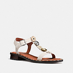 TEA ROSE T-STRAP SANDAL - CHALK - COACH FG1214