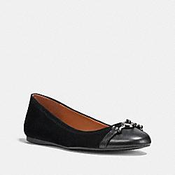 LEILA BALLET - BLACK/BLACK - COACH FG1265
