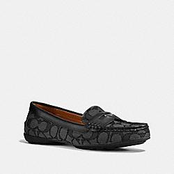 COACH PENNY LOAFER - BLACK SMOKE/BLACK - COACH FG1269