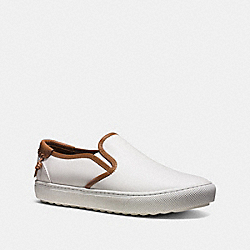 COACH UNION SLIP ON SNEAKER - WHITE - FG1440
