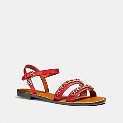 COACH CHAIN STRAP SANDAL - TRUE RED - FG1465