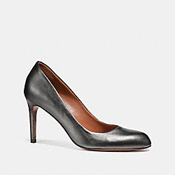 COACH ALMOND TOE PUMP - GUNMETAL - FG1484