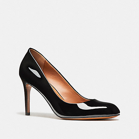 COACH fg1485 ALMOND TOE PUMP BLACK