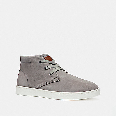 COACH fg1504 SUEDE BOOT HEATHER GREY