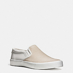 COACH PARKER SLIP ON SNEAKER - CHALK/WHITE - FG1623