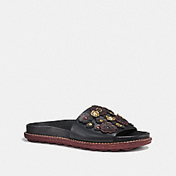 SPORT SLIDE WITH TEA ROSE - BLACK - COACH FG1791
