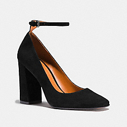 ANKLE STRAP PUMP - BLACK - COACH FG1798