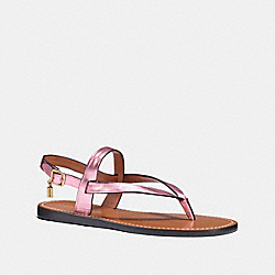 HUDSON SANDAL - METALLIC BLUSH - COACH FG1811